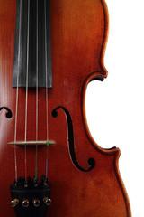 old wooden violin detail