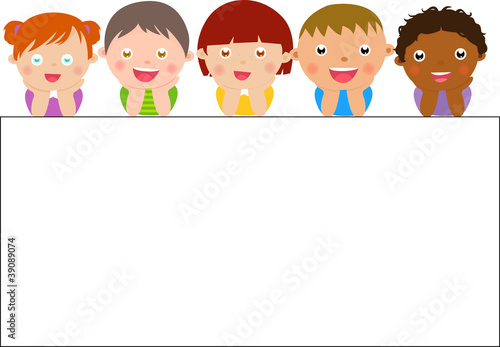 Cute cartoon kids frame\