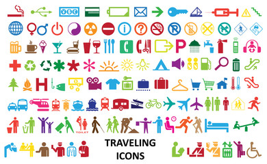 0222 Colorful Traveling Web Icons