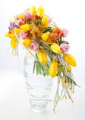 Floristry - colorful flower bouquet arrangement in vase