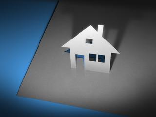 paper cutout house