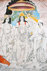 Nepal, the temple wall murals