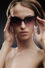 sensual girl in sunglasses