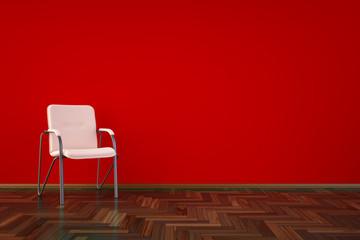 High resolution 3D render red interior