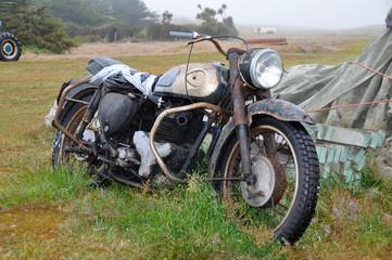 Rusting motor cycle Falkland Islands