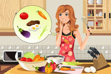 Cooking woman