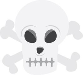 Isolated skull skeleton head illustration