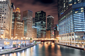 Fototapete - Chicago River Walk