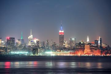 Wall Mural - New York City Manhattan at night