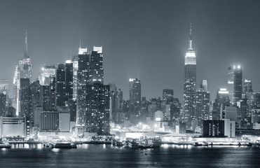 Wall Mural - New York City Manhattan black and white