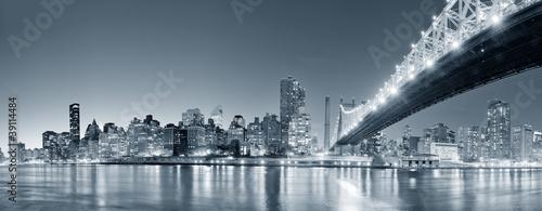 Fototapete New York City night panorama