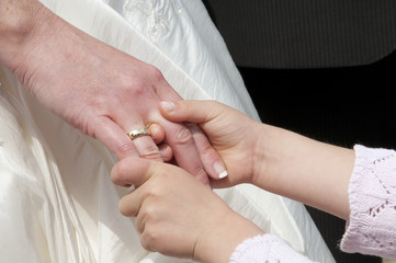 Hände Mutter Tochter