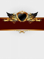 ornate frame with heart form