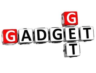 3D Get Gadget text Crossword