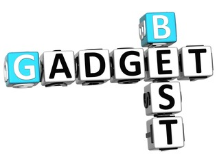 3D Best Gadget text Crossword