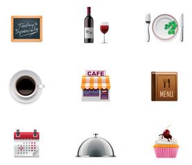 Vector restaurant icon set