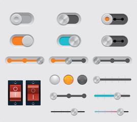 Vector UI buttons set