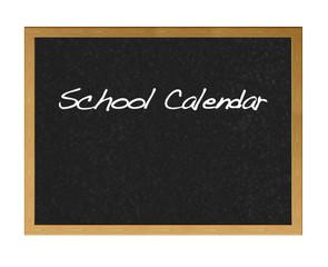 School calendar.