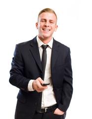 Confident happy businessman.