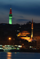 mosque and fire tower