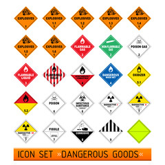 icon set dangerous good I