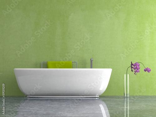 wohndesign bad mit gr ner wand stockfotos und lizenzfreie bilder auf bild 39139209. Black Bedroom Furniture Sets. Home Design Ideas
