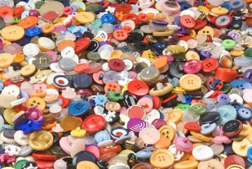 Collection of different buttons.