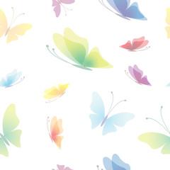 Beautiful seamless background, butterfly pattern