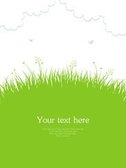 Vector illustration of Summer background with grass