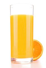 orange juice isolated on white