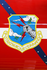 Strategic Air Command insignia on aircraft at Cape Canaveral Air