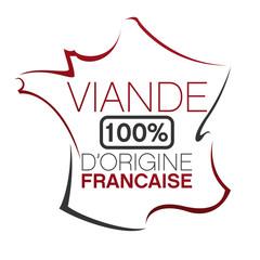 vecteur, carte france et viande française