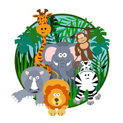 Cute Safari Cartoon