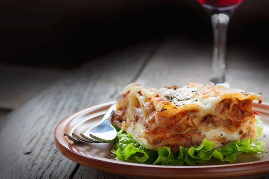 Fresh homemade lasagna