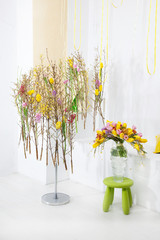 Floristics - beautiful floral concept. Art flowers design