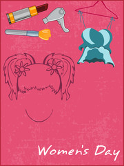 preparation articles for a beautiful girls, vector..