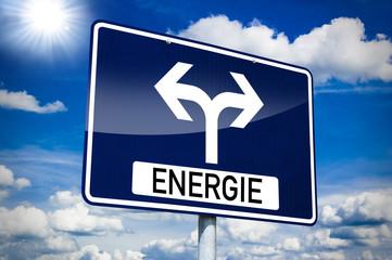 Ortseingangsschild mit Energie
