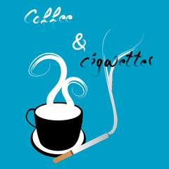Coffee and cigarettes illustration
