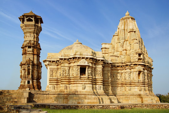 An ancient temple in the Chittorgarh fortress.