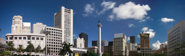 Photo sur Toile San Francisco Panoramic view of Union Square at San Francisco downtown