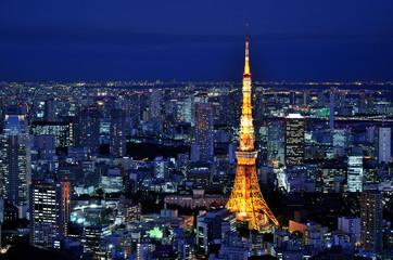 Tokio Tower in der blauen Stunde