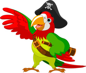 Poster Fairytale World Pirate Parrot