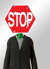 Stop sign Headed Figure