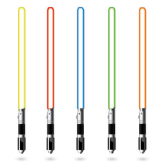 Vector color ligth saber set