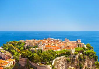 Panoramic view of Monaco with Prince's Palace