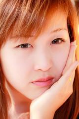 Smiling face of Asian girl