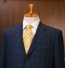 Closeup shot of business suit on a mannequin