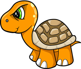 Tough Turtle Animal Wildlife Vector Illustration Art
