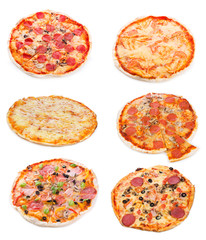 Fototapete - set with different pizza