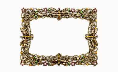 Picture frame with a decorative pattern .